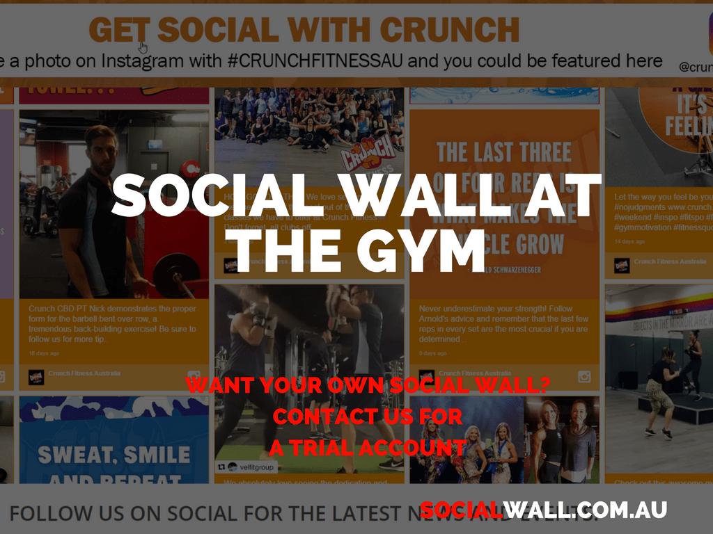 SOCIAL WALL AT THE GYM