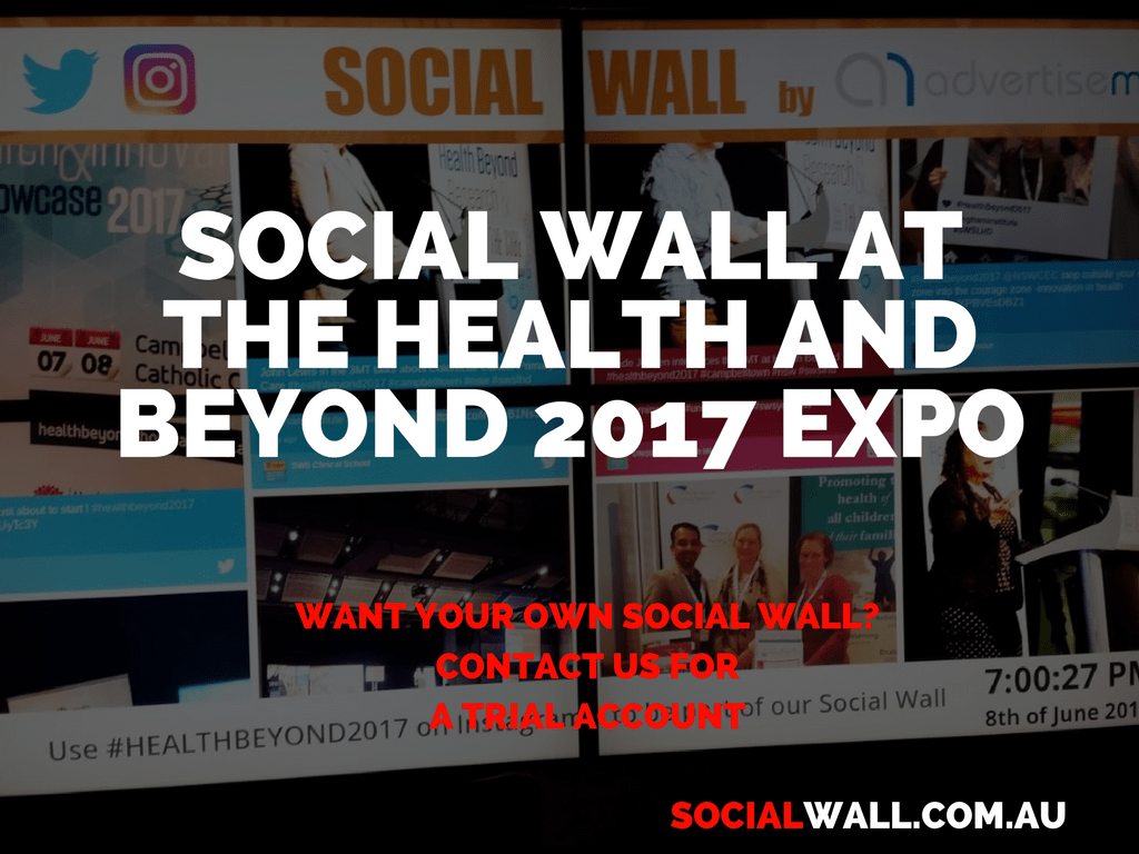 SOCIAL WALL AT THE HEALTH AND BEYOND 2017 EXPO