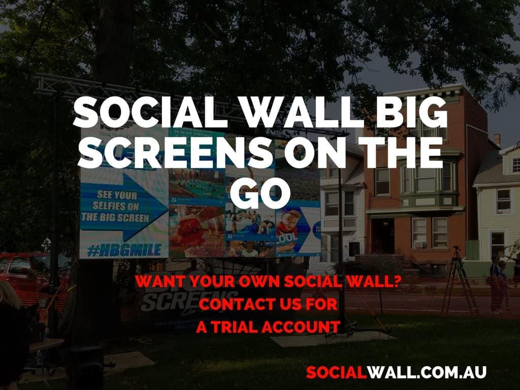 SOCIAL WALL BIG SCREENS ON THE GO