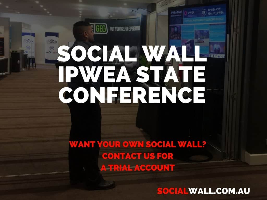 SOCIAL WALL IPWEA STATE CONFERENCE