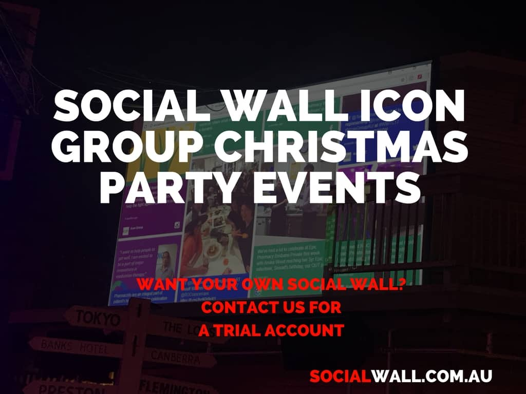 SOCIAL WALL ICON GROUP CHRISTMAS PARTY EVENTS